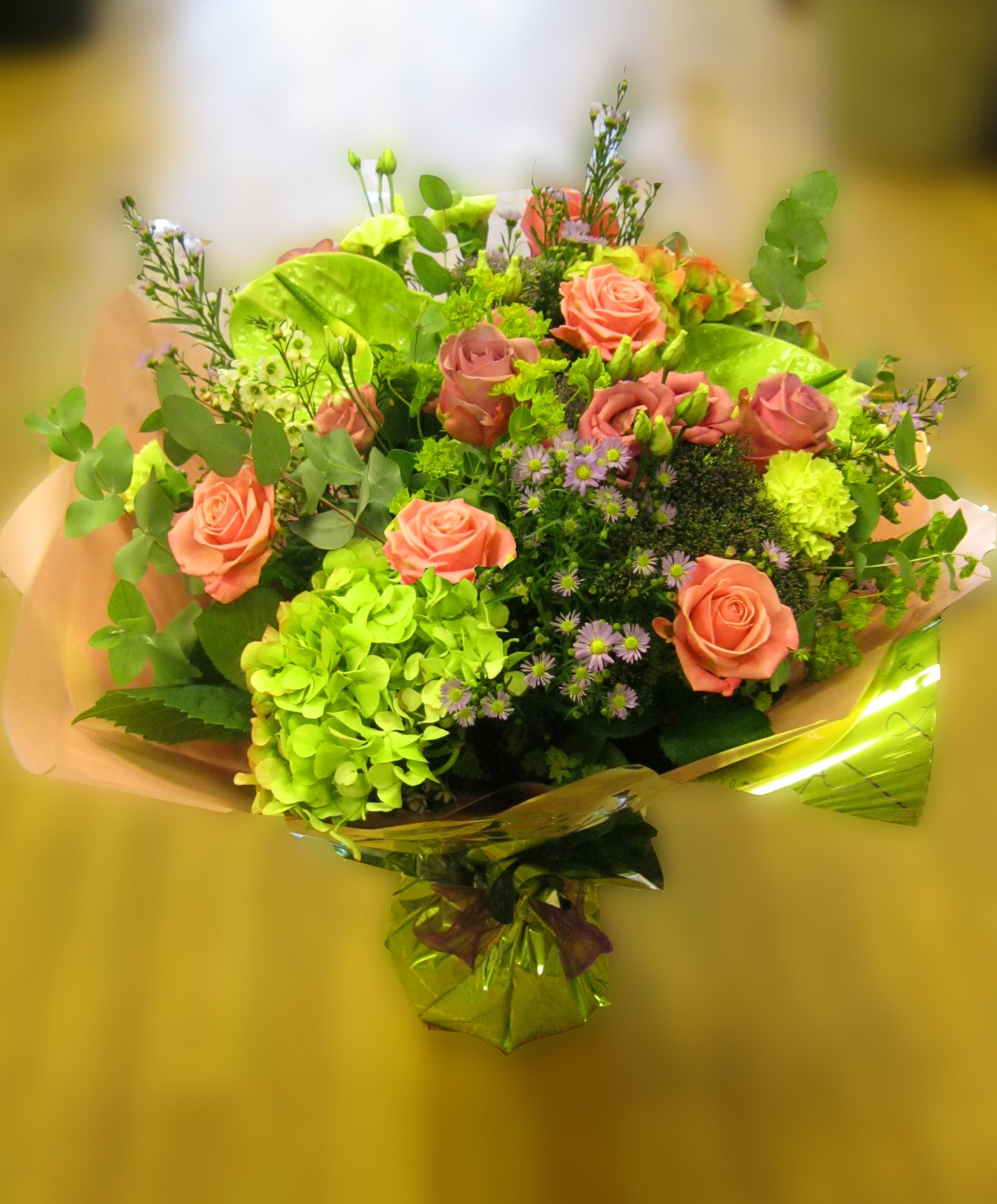 Aqua pack pinks greensNatasha Coustol Floral Designs