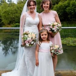 pink and cream, wild, woodland wedding