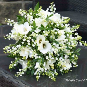 1 lily of the valley and freesia bridal bouquet wedding flowers