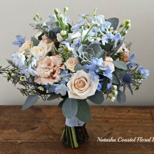 1 peach duck egg blue light blue creme wedding flowers natural succulents