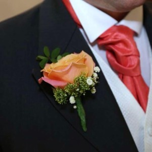 wedding flowers leeds orange buttonhole