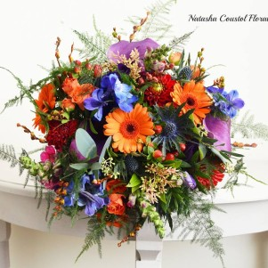12 wedding flowers leeds bright orange blue purple