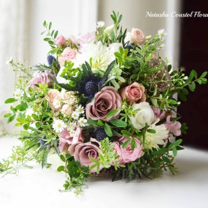 rustic bouquet leeds wedding florist