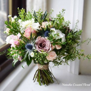 rustic bouquet wedding flowers leeds