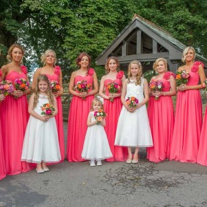 coral wedding flowers leeds