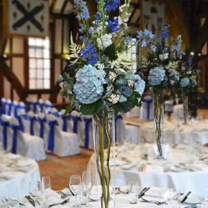 blue wedding flowers leeds