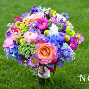 bold bright colourful wedding flowers leeds yorkshire