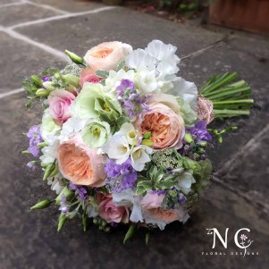 david austin juliet roses pastel wedding flowers