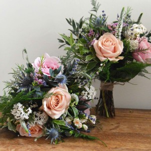 fern woodland pastel wedding flowers