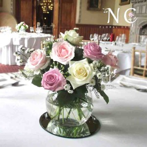 fish bowl flowers leeds yorkshire weding