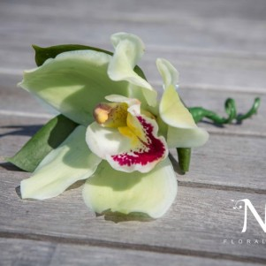green-orchid-buttonhole-leeds-wedding-flowers