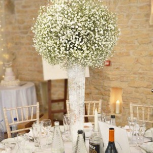 gypsophila ball centerpiece tall