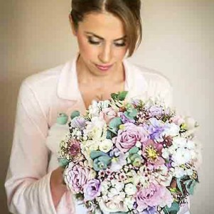 pastel bridal bouquet