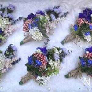 rustic pastel buttonhole flowers