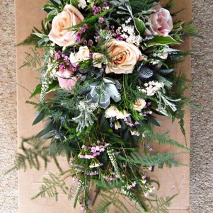 trailing woodland pastel bouquet