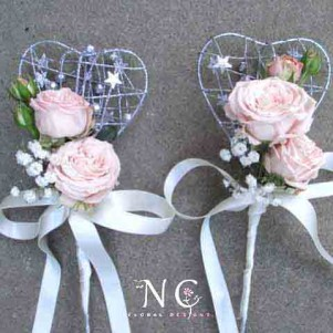 wands pink cream flower girl