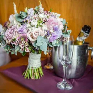 wedding flowers leeds bridal boquuet dusky pink cream lilac wedding flowers natural