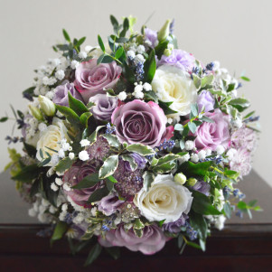 wedding flowers leeds dusky pink lilac gyp bridal bouquet