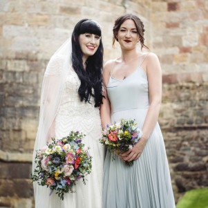 wedding flowers yorkshire bold bright flowers colourful skipton castle