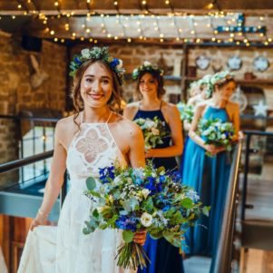 rustic bride wedding flowers leeds